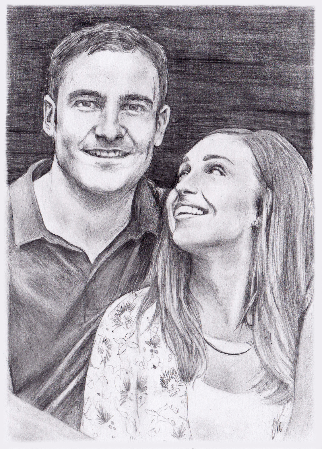 couples portraits, wedding gifts, handmade, pencil portraits, illustration,